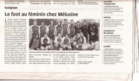 article féminines