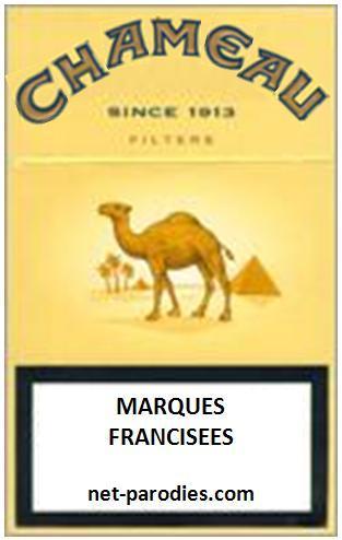 parodie marque francisée  fausse pub cigarette camel