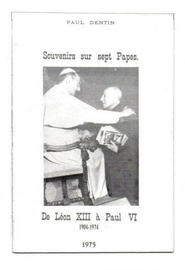 Souvenirs de P. Dentin