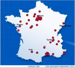 visiteurs France 3-16 Sept. 2011