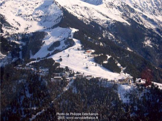 Vue aérienne de la station du Collet d'Allevard
