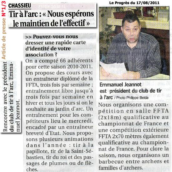 Le Progrès 17/08/2011