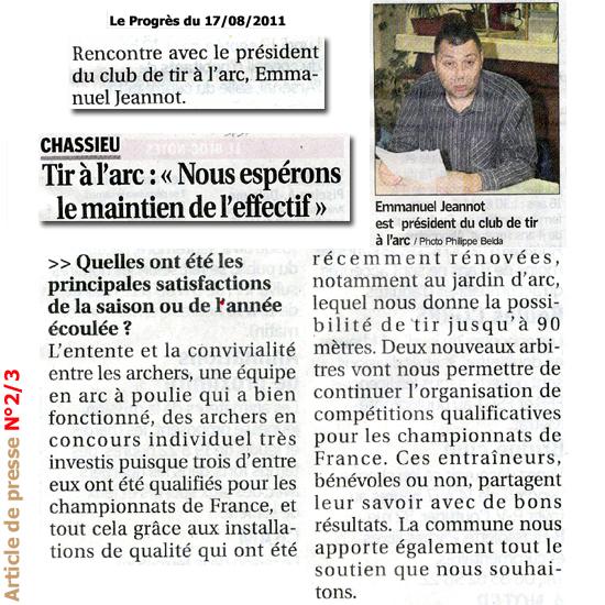 Le Progrès 17/08/2011 suite