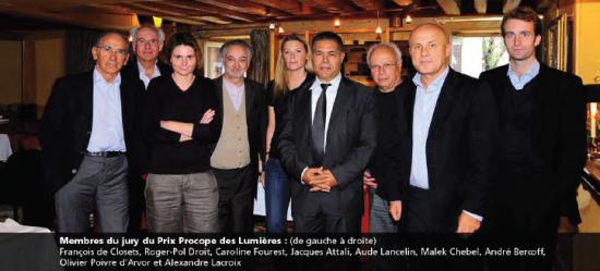 Jury du prix Procope des Lumières