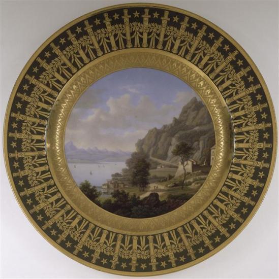 assiette du service de Napoléon Ier