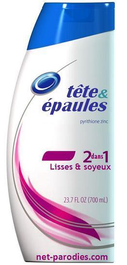 parodie fausse pub marque francisée shampoing head shoulders