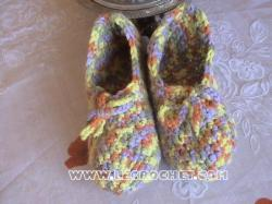 chausson au crochet