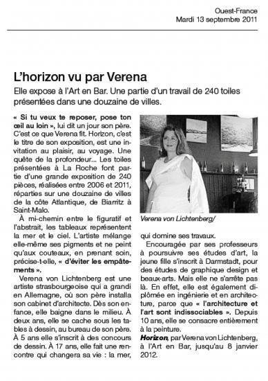 Ouest - France 12 septembre 2012
