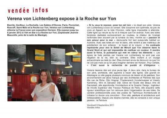 Vendée Info 9 septembre 2011